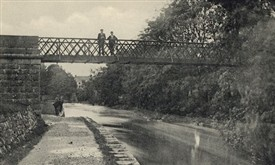 Photo:The Metal Bridge spanning the River Robe linking the Bower's Lane with the Bower's Walk